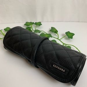 SEPHORA Faux Leather Brush Roll Bag